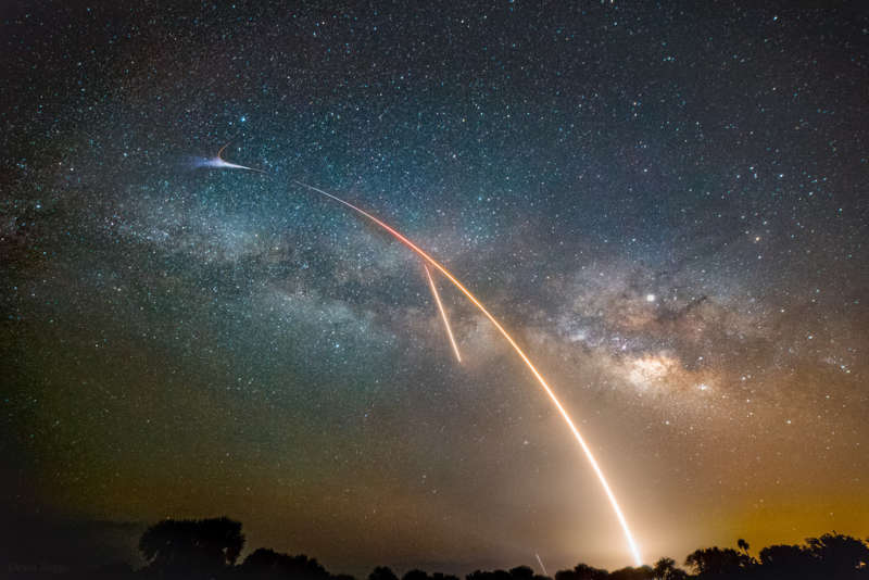 Milky Way, Launch, and Landing