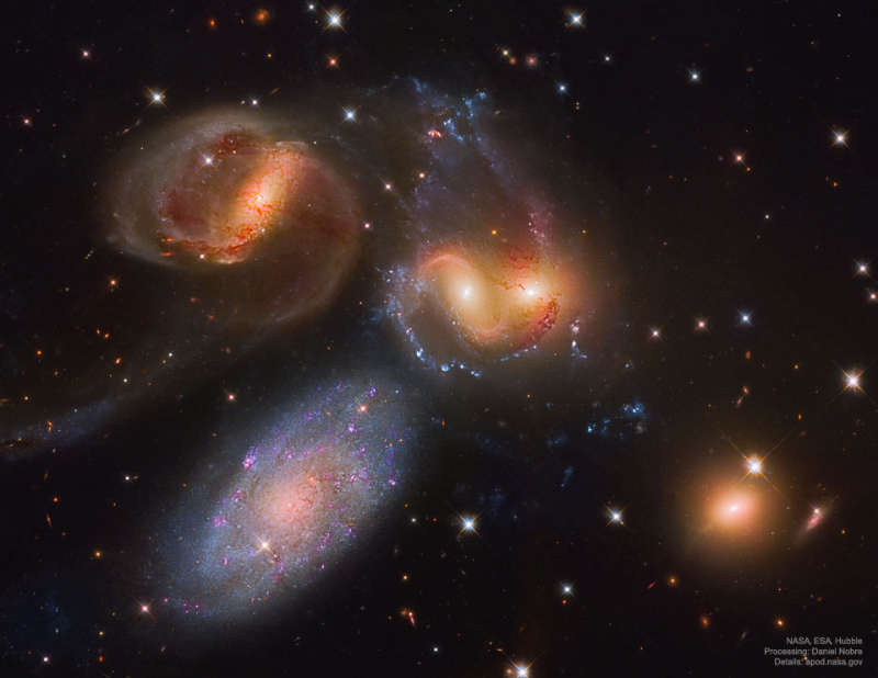 Stephan's Quintet from Hubble