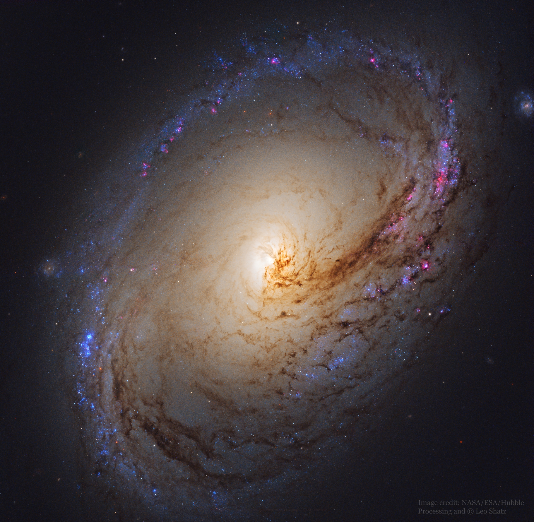 Spiral Galaxy M96 from Hubble