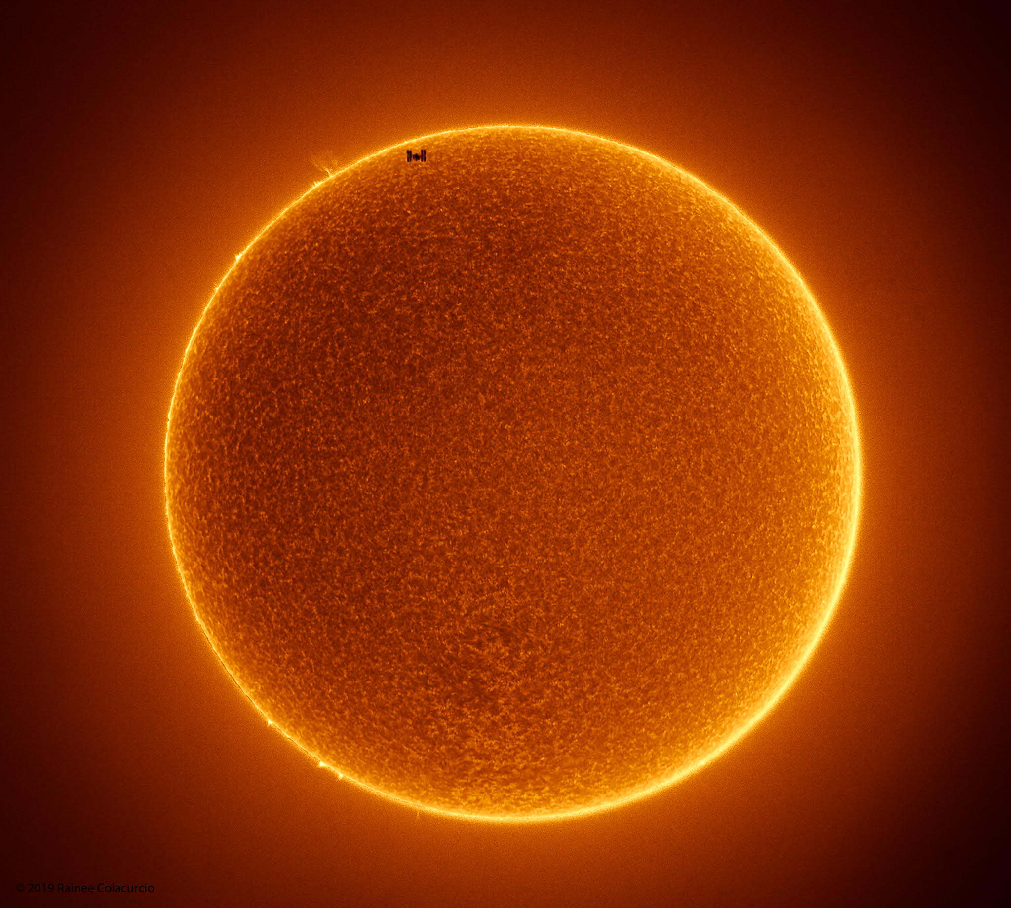 The Space Station Crosses a Spotless Sun