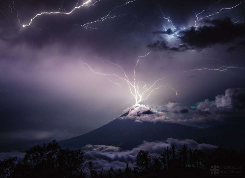 Lightning over the Volcano of Water