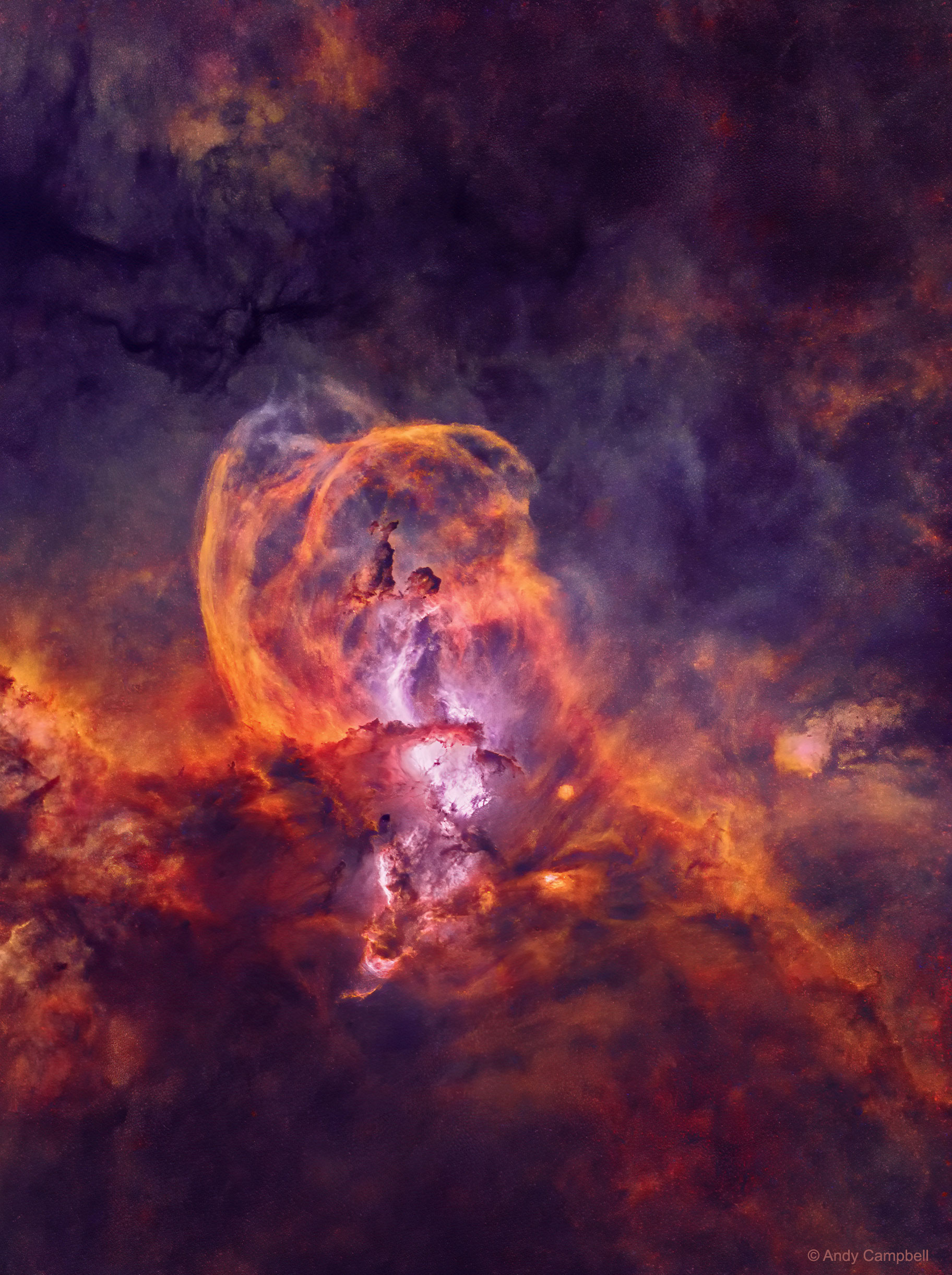 Star Forming Region NGC 3582 without Stars