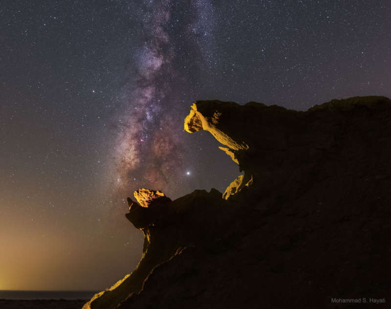 Jupiter Engulfed and the Milky Way