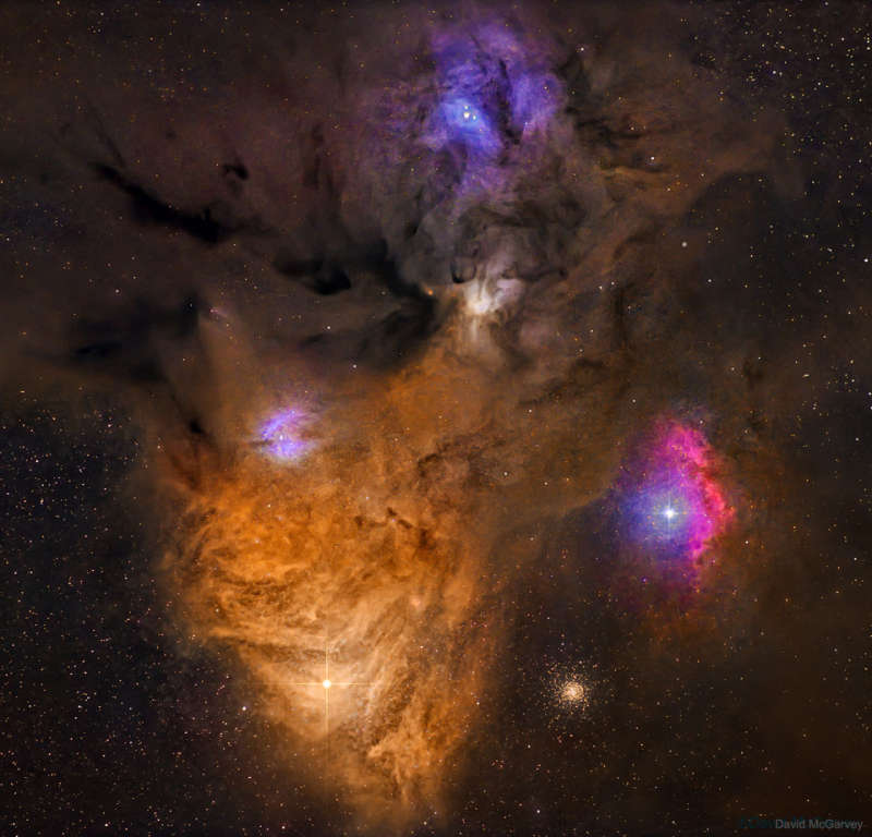 Dark Dust and Colorful Clouds near Antares