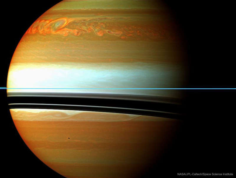 A Long Storm System on Saturn