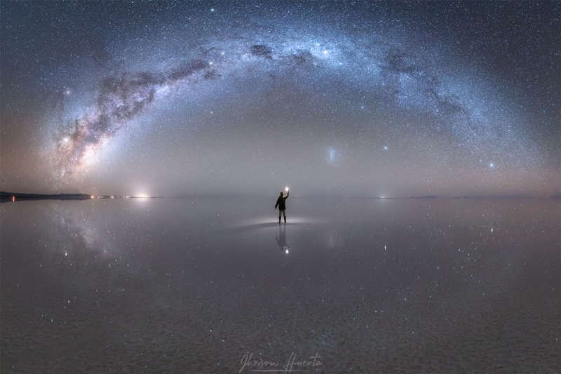 Night Sky Reflections from the Worlds Largest Mirror