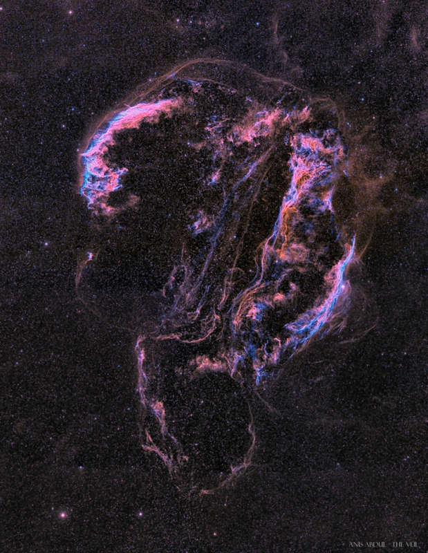 The Ghostly Veil Nebula