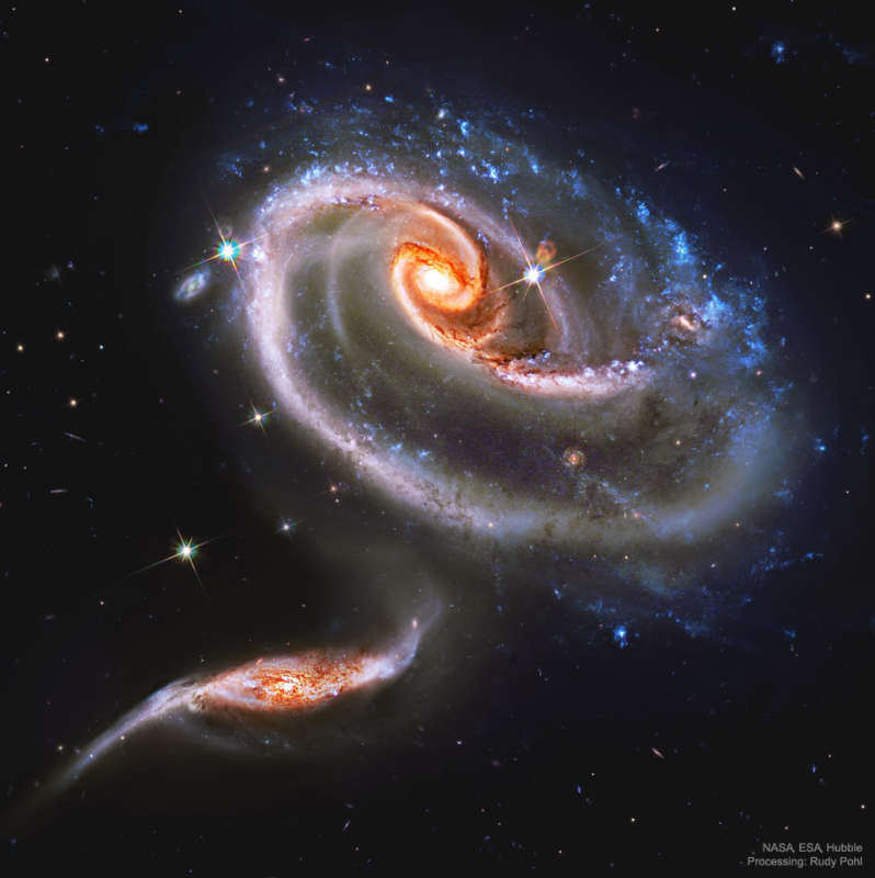 Arp 273: Battling Galaxies from Hubble