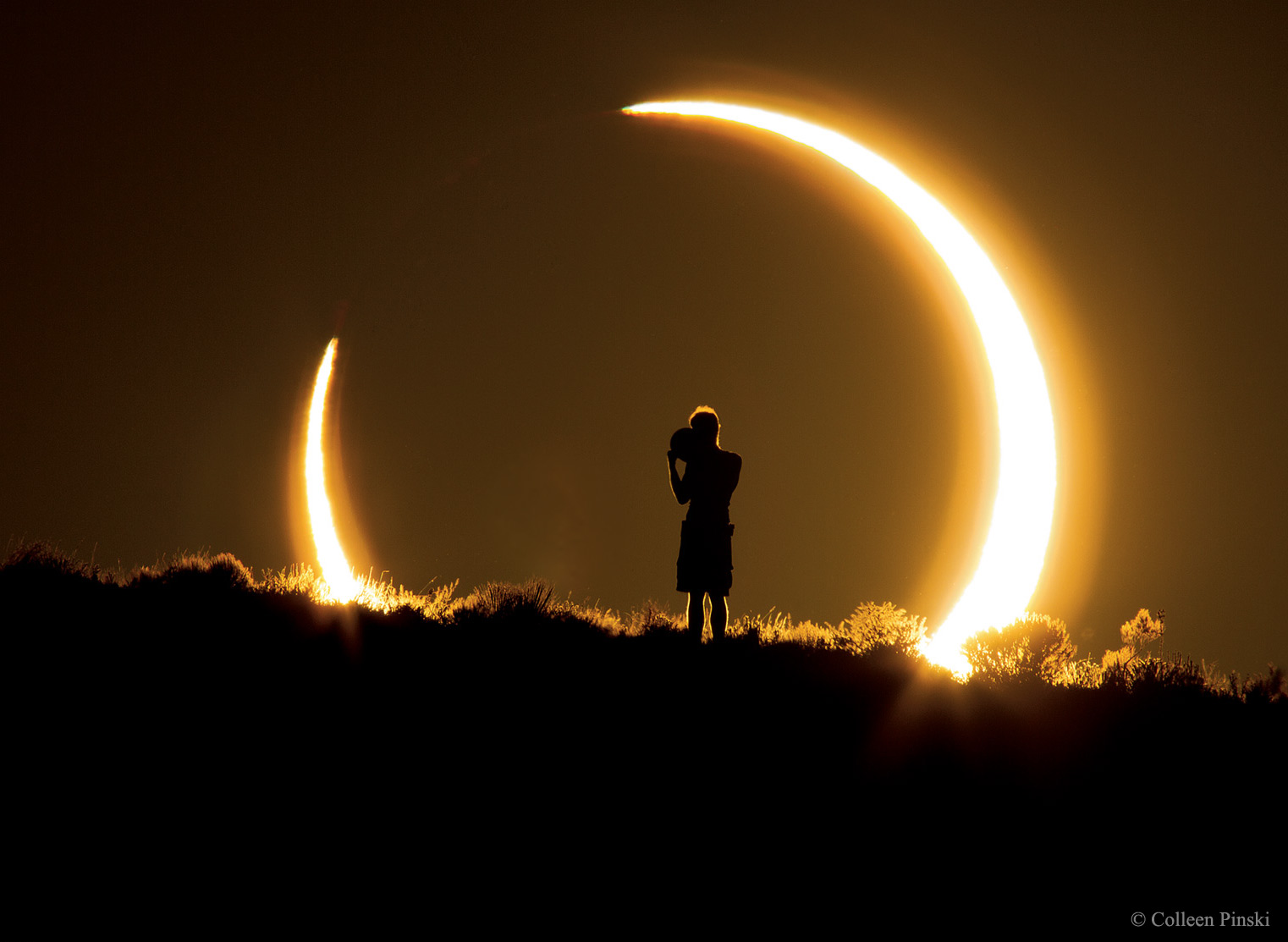 An Annular Solar Eclipse over New Mexico
