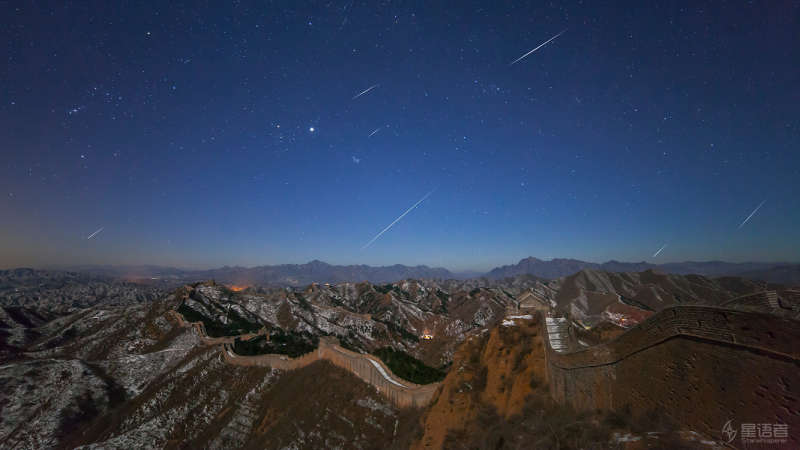 Quadrantids over the Great Wall