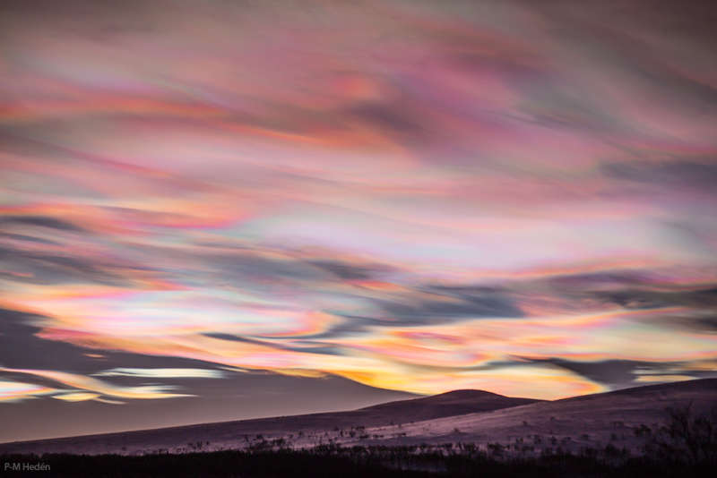 Nacreous Clouds over Sweden