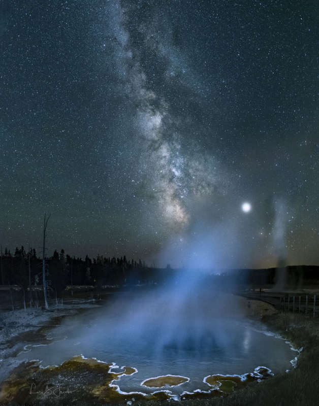 Milky Way over Yellowstone