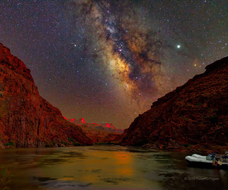 A Sunset Night Sky over the Grand Canyon