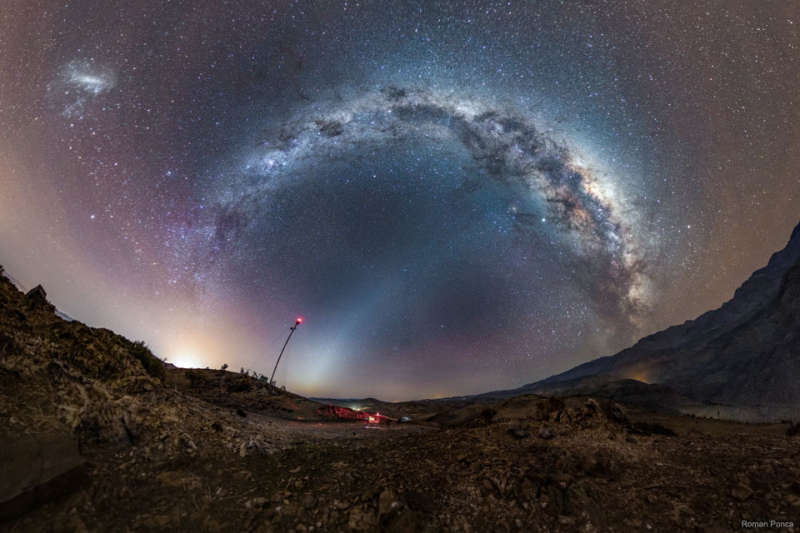Milky Way and Zodiacal Light over Chile