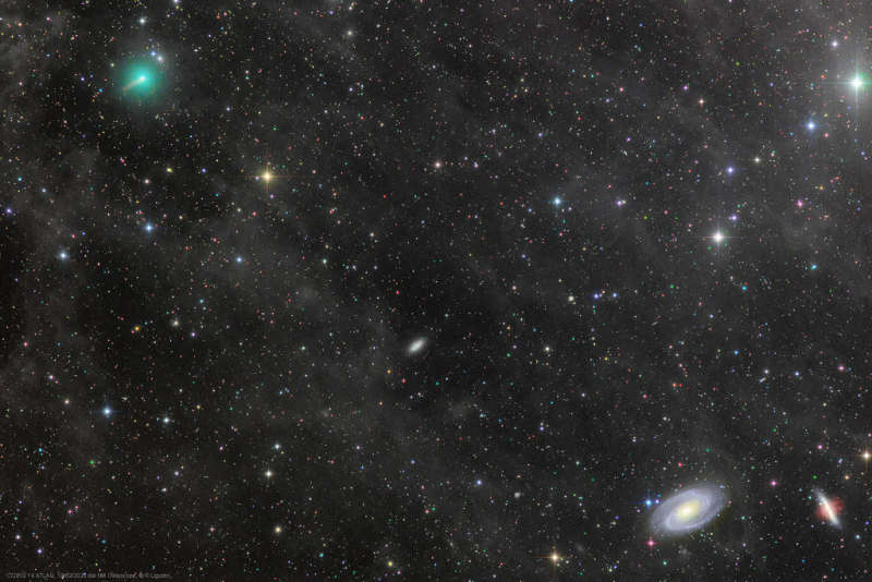 Comet ATLAS and the Mighty Galaxies