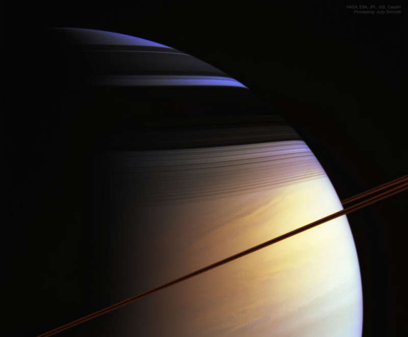 The Colors of Saturn from Cassini