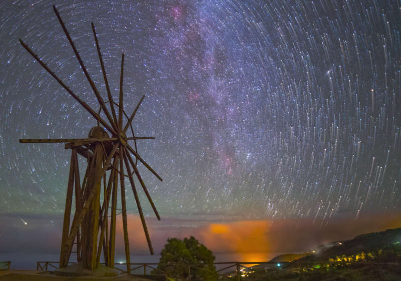 The Windmill and the Star Trails