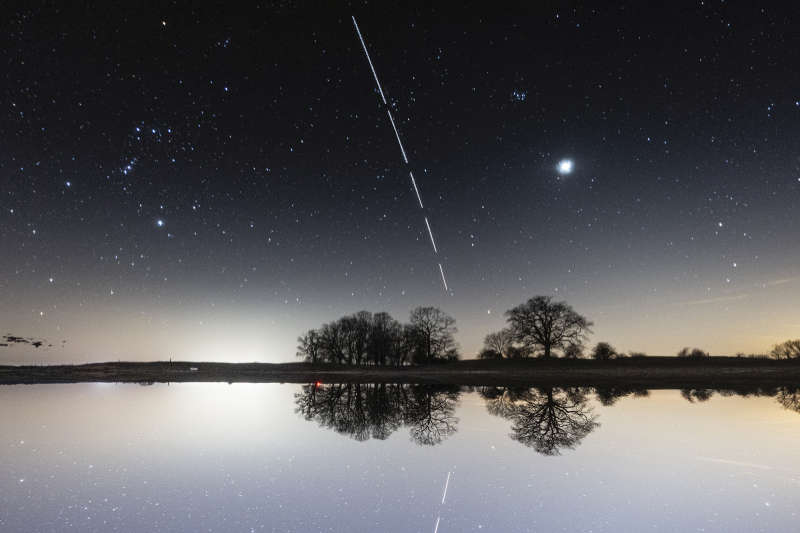 Reflecting the International Space Station
