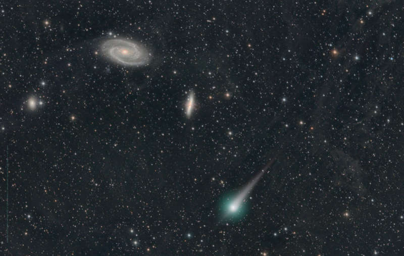Comet PanSTARRs and the Galaxies