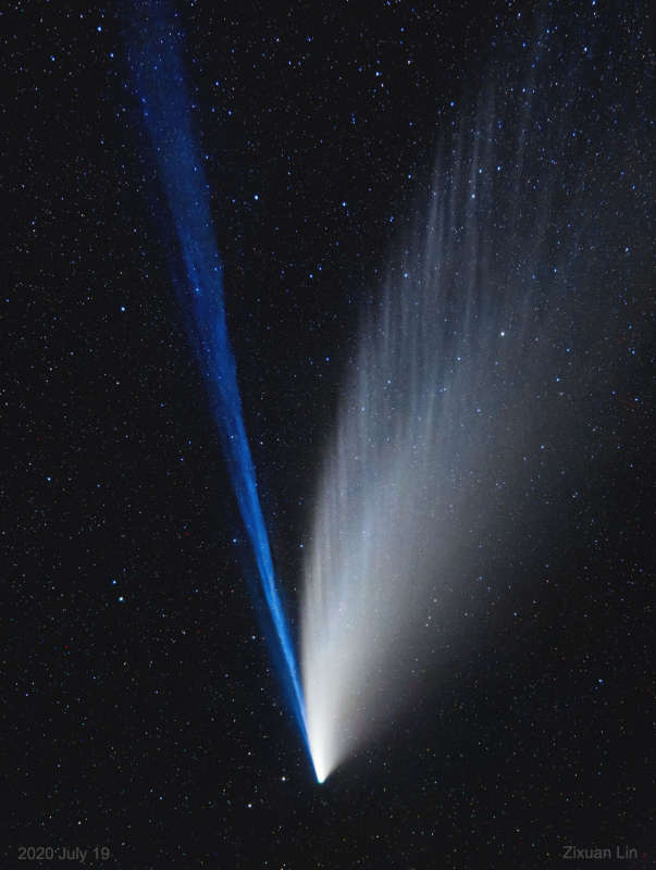 APOD: 2020 July 22 Б The Structured Tails of Comet NEOWISE