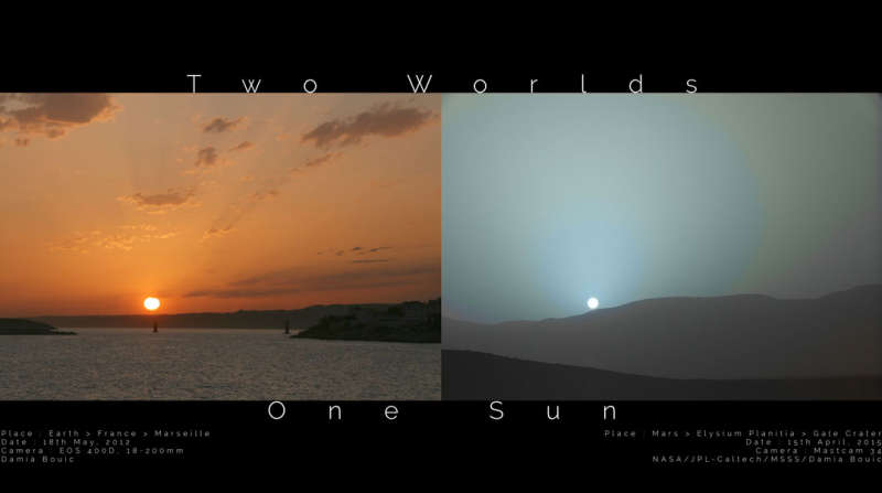 APOD: 2020 August 2 Б Two Worlds One Sun