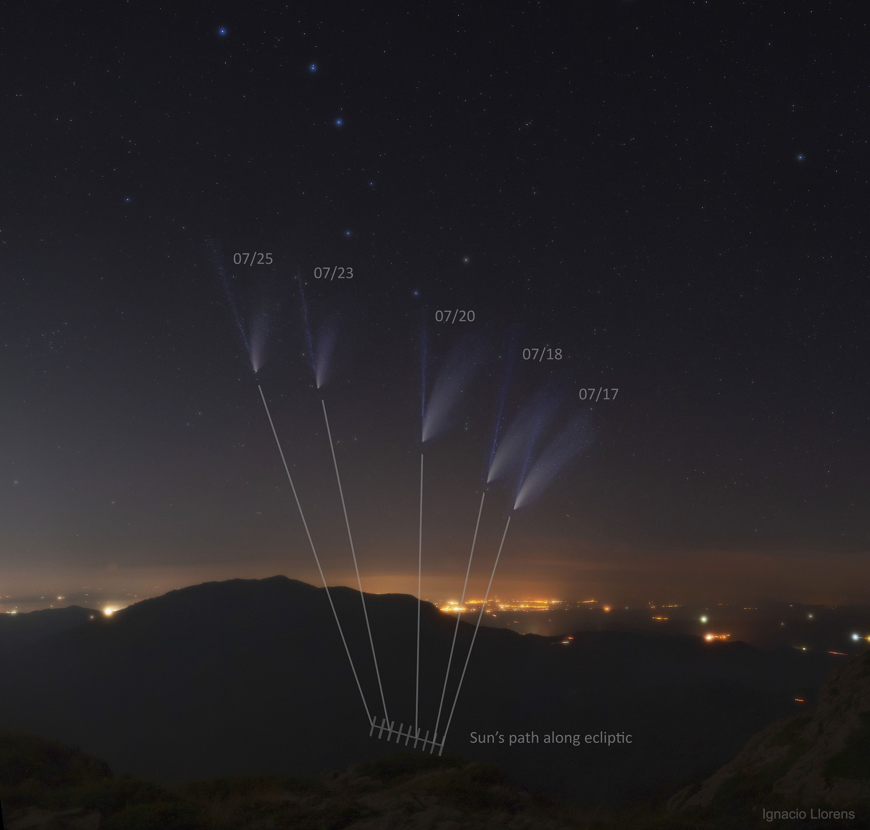 The Shifting Tails of Comet NEOWISE