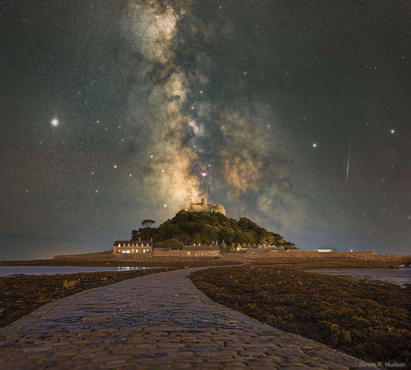 The Milky Way over St Michaels Mount