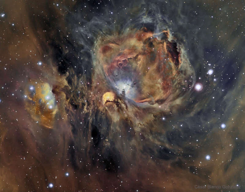 Orion Nebula in Oxygen, Hydrogen, and Sulfur