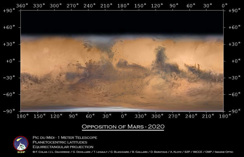 Global Map: Mars at Opposition