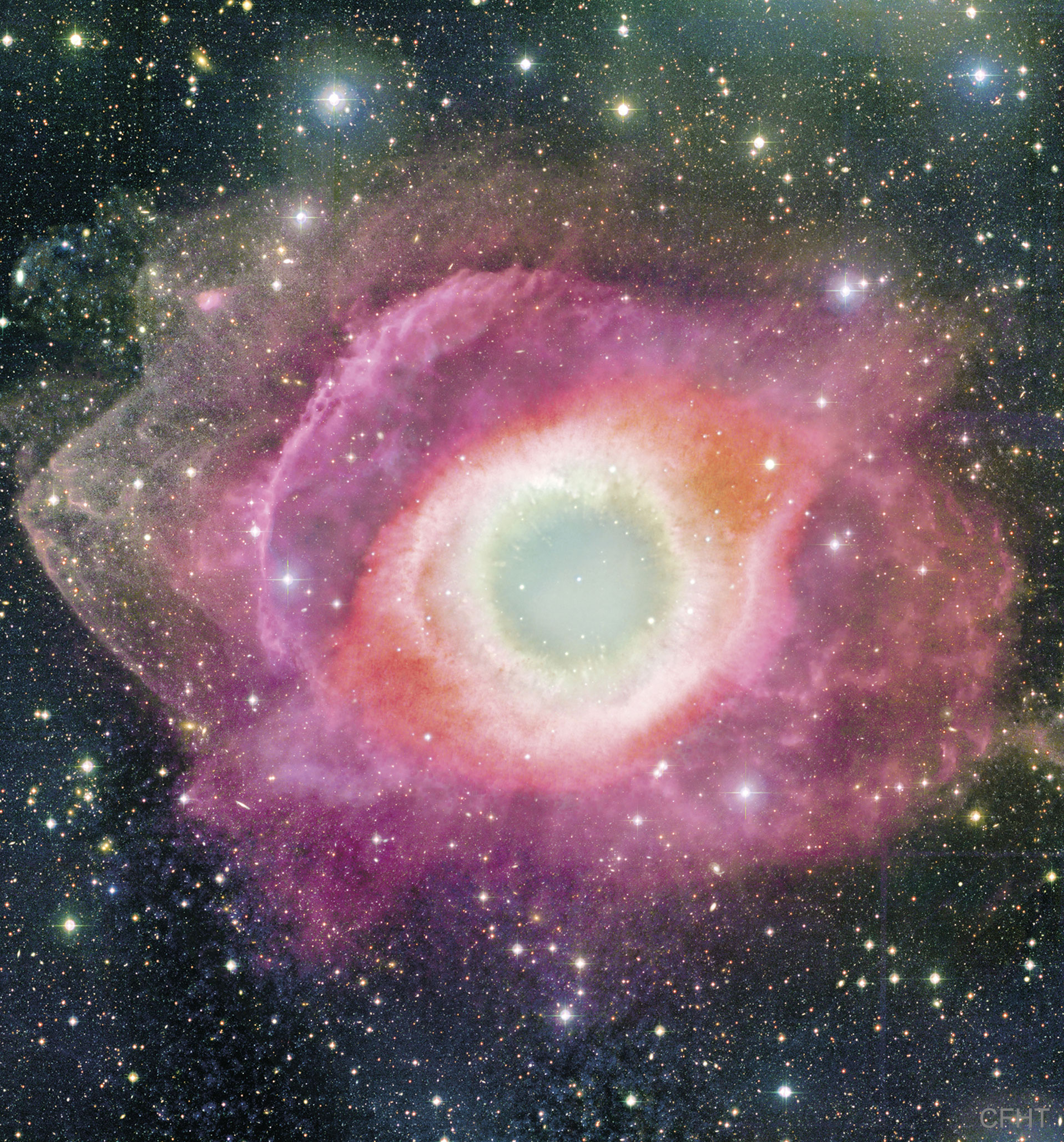 The Helix Nebula from CFHT