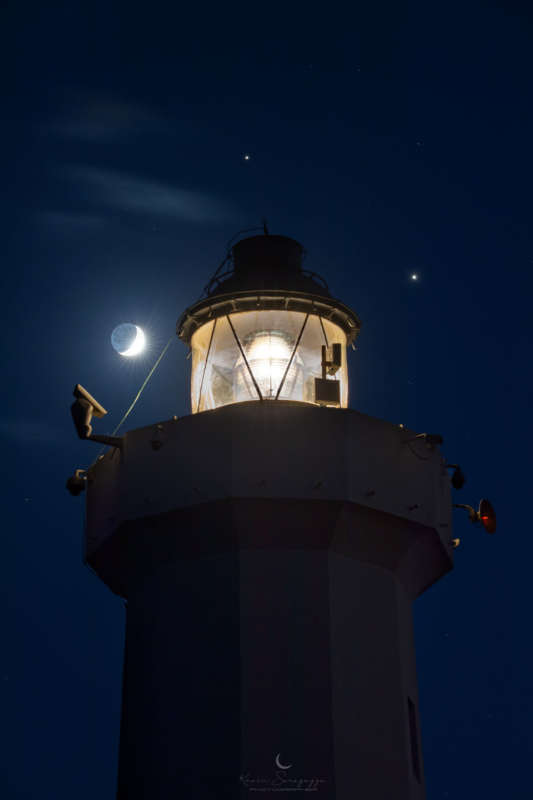 Great Conjunction over Sicilian Lighthouse