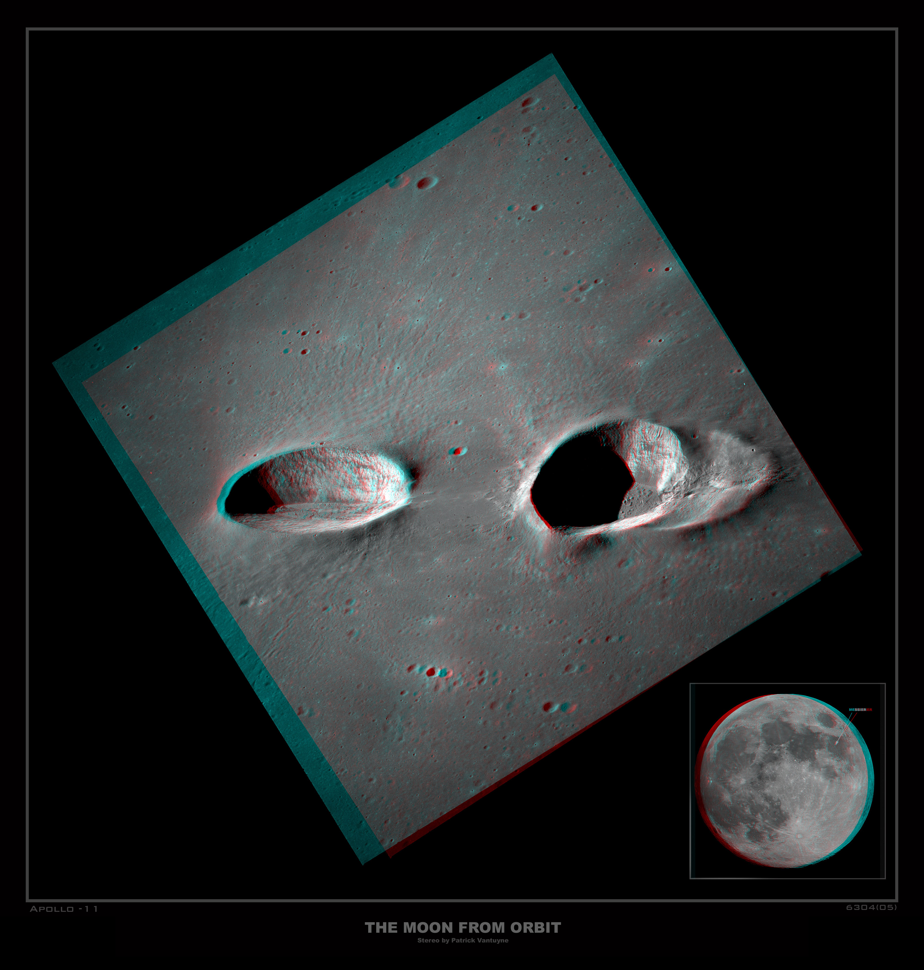 Messier Craters in Stereo