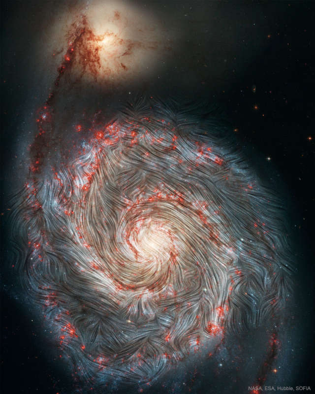 The Magnetic Field of the Whirlpool Galaxy