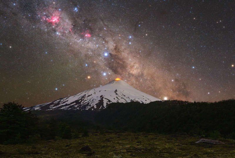 Southern Cross over Chilean Volcano